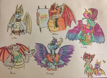 Spyro Dragon Dads by RogersGirlRabbit