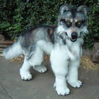 Quadsuit wolf fursuit by LilleahWest