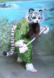 LARP tiger green kimono by LilleahWest