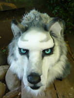 huskey wolf face by LilleahWest