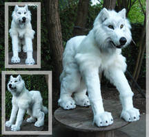 White wolf quadsuit by LilleahWest