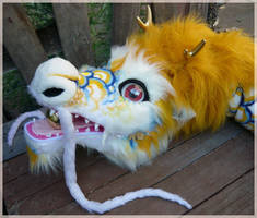 huge chinese dragon closeup by LilleahWest