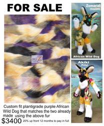 Purple Wild Dog Design by LilleahWest