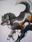 Wolf link and Midna Wolf by LilleahWest