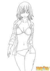 Juvia Loxar in Bikini by mirko-kun