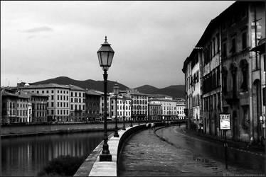 Italian Waterfront - BW by hesitation