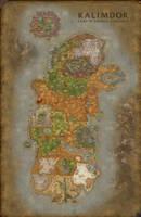 World of Warcraft Kalimdor map | Fanart by SolarielDawnstar