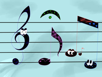 Music notes by Calura