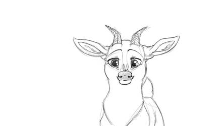 Goat in progress by Calura