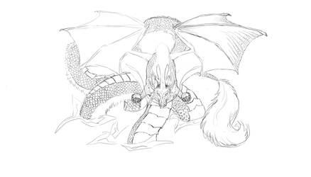 Dragon in progress by Calura