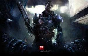 Mass Effect 3 Teaser Wallpaper by patryk-garrett