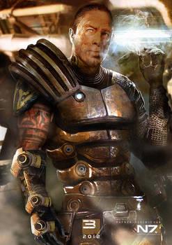 Mass Effect 3 - Zaeed Massani by patryk-garrett