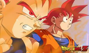 Goku Y Vegeta  Ssj God Aliensurxx by aliensurxx