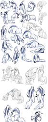 lots and lots of anteaters! by unbadger