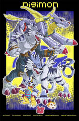 Gabumon evo. print by unbadger