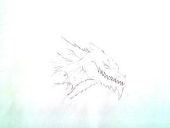 Ice Dragon Head by Ravenspirit000