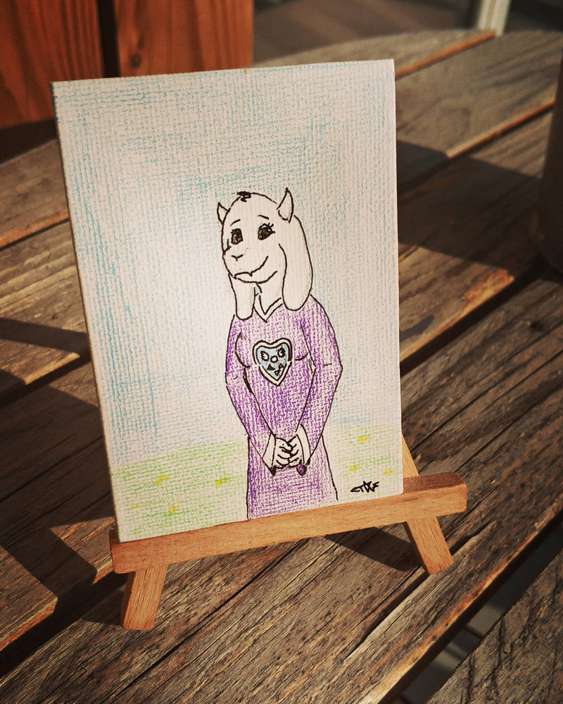 A tiny Toriel on a tiny canvas by Tagpower