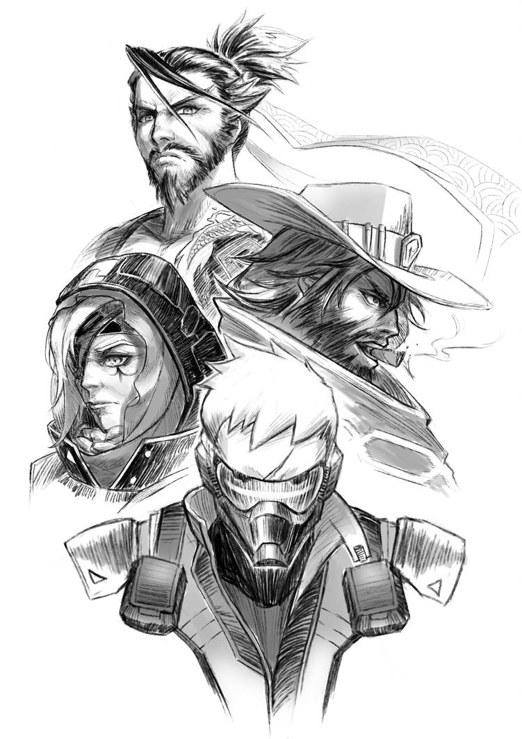 The Four Wanderers [ Overwatch ] by Soujirou1994