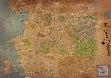 Fantasy map by Kazumaki