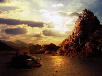 Dark desert Background by LadiaHidoi