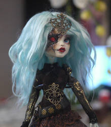 Monster High Faceup Repaint Frankie Stein Rhyna by Candy-Janney