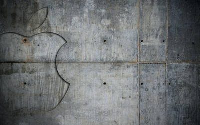 Concrete Apple wallpaper by JarekZ
