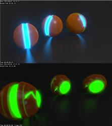 Glow and Balls by zabaz