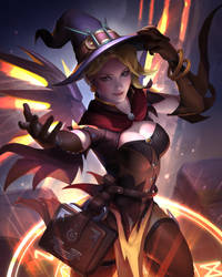 Witch Mercy by JenMeiArt