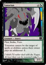 Felaryan Creature: Tonorion by Jakethecardsculptor