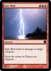 Felaryan Sorcery: Epic Bolt by Jakethecardsculptor