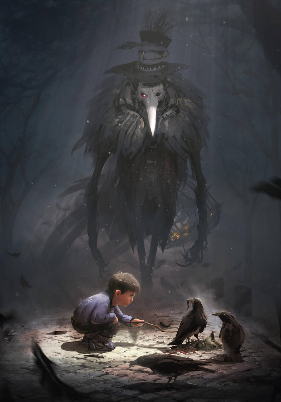 Thevan and the raven monster by ptitvinc