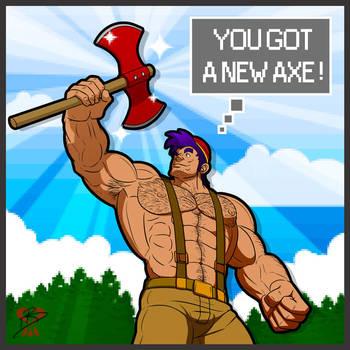 Paul Bunyan got a new axe ! by leomon32