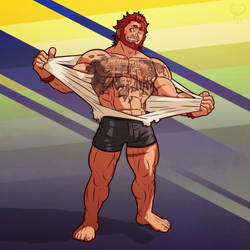 T-shirt ripped appart +Iskandar FGO+ by leomon32