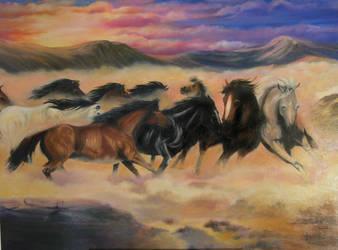 Horses by JamesBrewer100