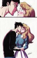 Human kiss by monyta