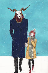 Winter Date by monyta