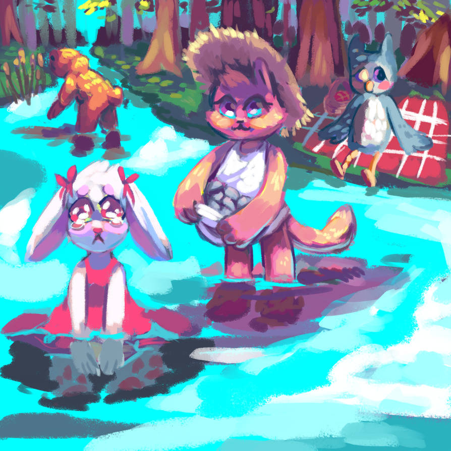 Day on the River by aruva-chan