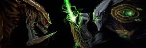 Hydra vs Zeratul by Mr--Jack