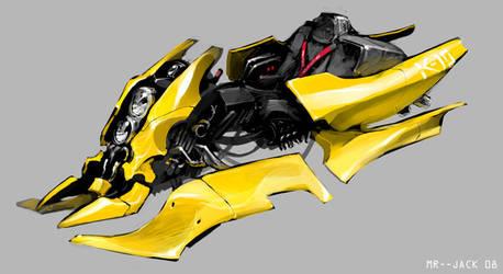 Yellow Bike by Mr--Jack