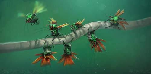 Orange-Lipped Iris-Beetle by Mr--Jack