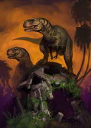 Theropod Dawn by Mr--Jack