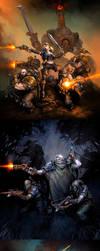 Warmachine: Mercenaries by Mr--Jack
