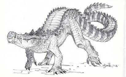 Kaprosuchus by Mr--Jack