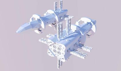 WIP realistic space ship by rkraptor70