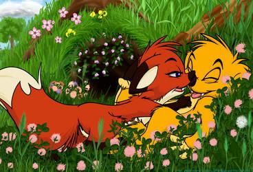 Hugo and Rita loving by LinkBunny