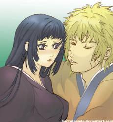 Hinata x Naruto First Kiss by kowaipanda