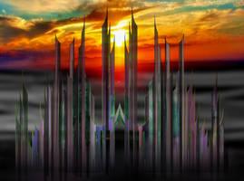 Sonnenuntergang Architektur by Caterinna