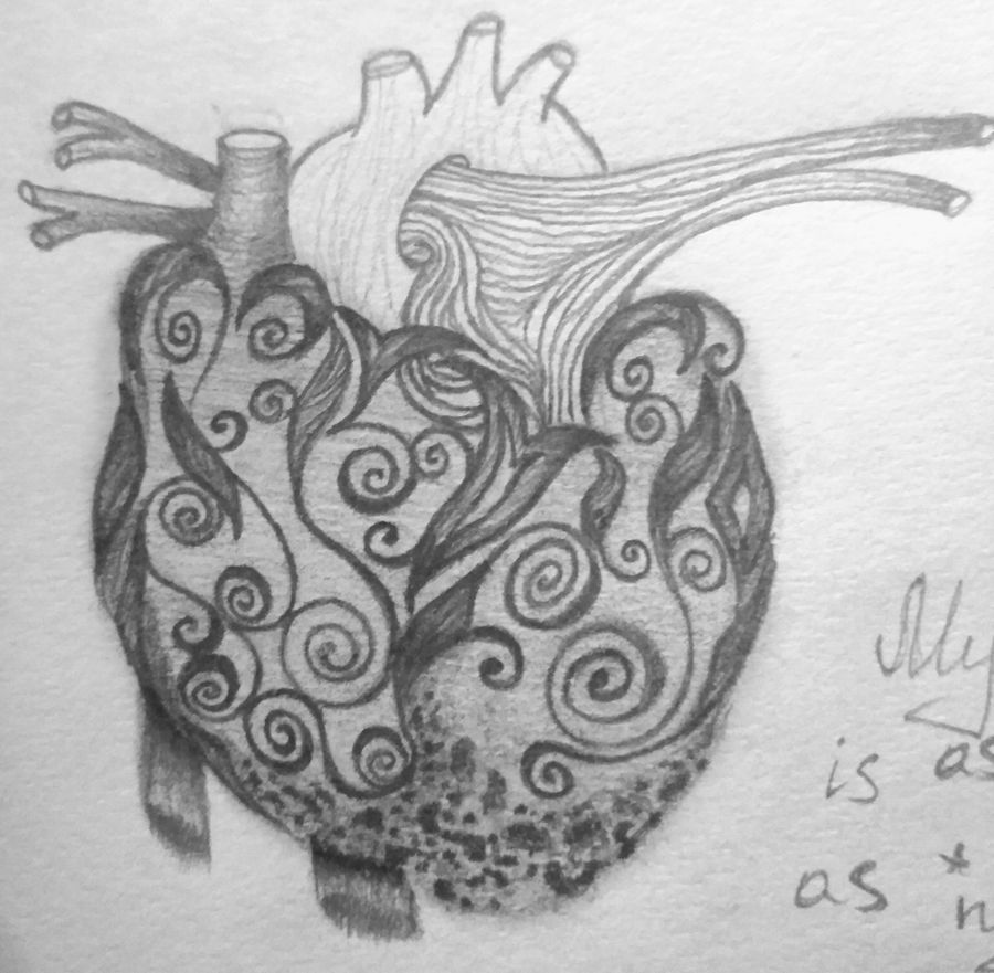 My heart is as black as Night by Caterinna