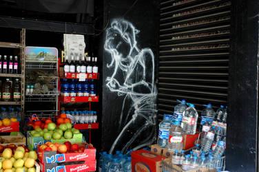 a little graffiti angel by dimibsd