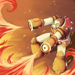 Fire Robot by Alexisvivallo
